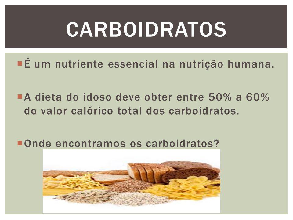  É um nutriente essencial na nutrição humana.
