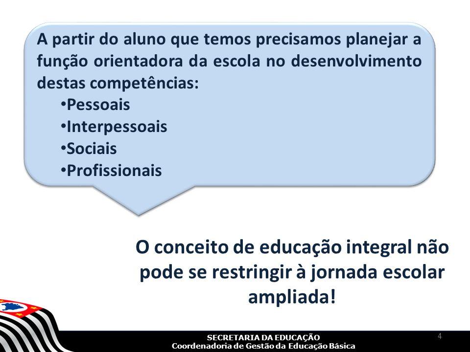 SECRETARIA DA EDUCAÇÃO Coordenadoria de Gestão da Educação Básica 5 Desenvolvimento de competências e habilidades para tomar decisões diante de desafios reais, cotidianos.