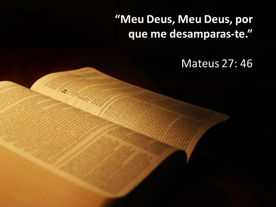 """""""Meu Deus, Meu Deus, por que me desamparas-te."""" Mateus 27: 46"""