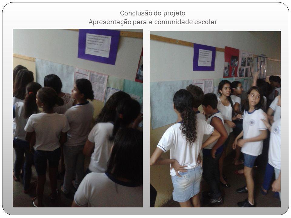 Conclusão do projeto Apresentação para a comunidade escolar