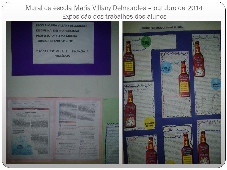 Mural da escola Maria Villany Delmondes – outubro de 2014 Exposição dos trabalhos dos alunos
