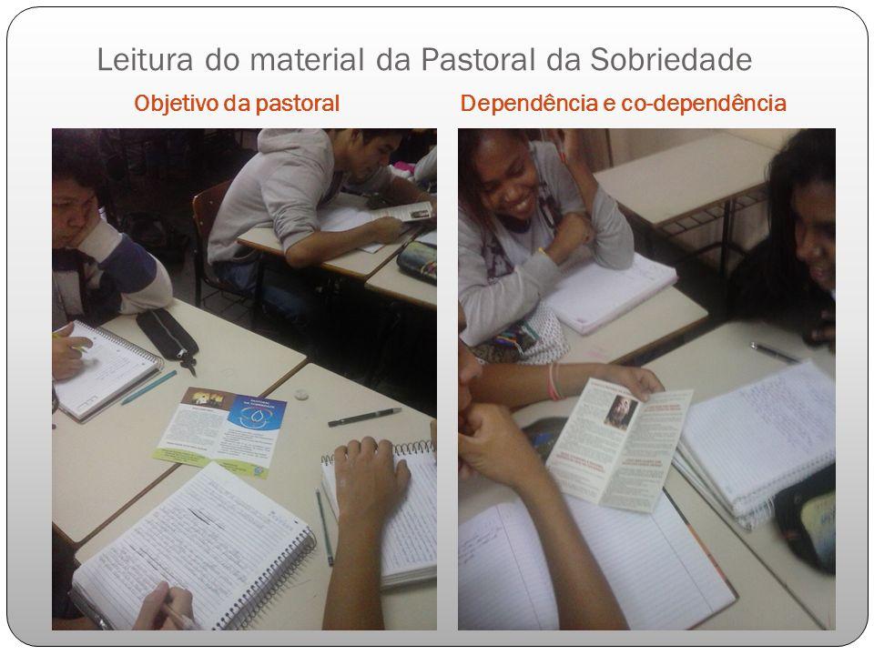 Leitura do material da Pastoral da Sobriedade Objetivo da pastoralDependência e co-dependência