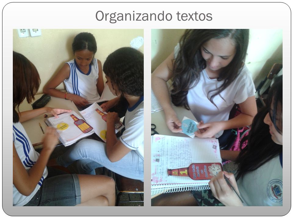 Organizando textos