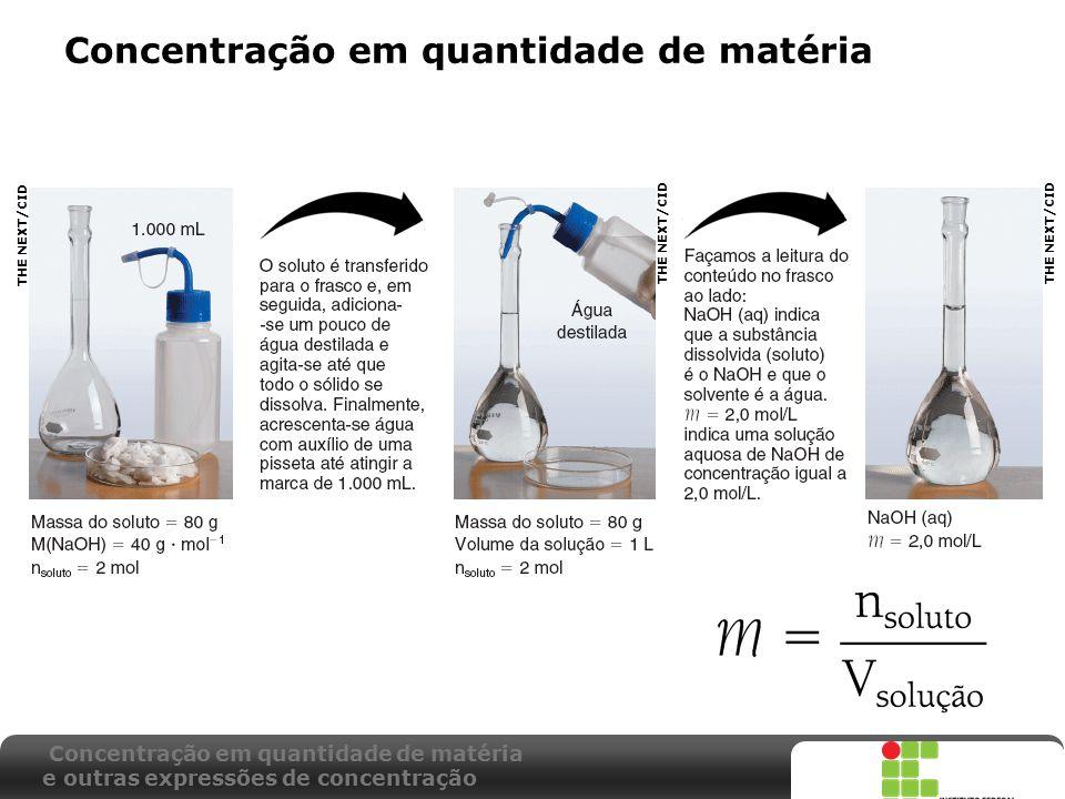 X SAIR Concentração em quantidade de matéria e outras expressões de concentração THE NEXT/CID