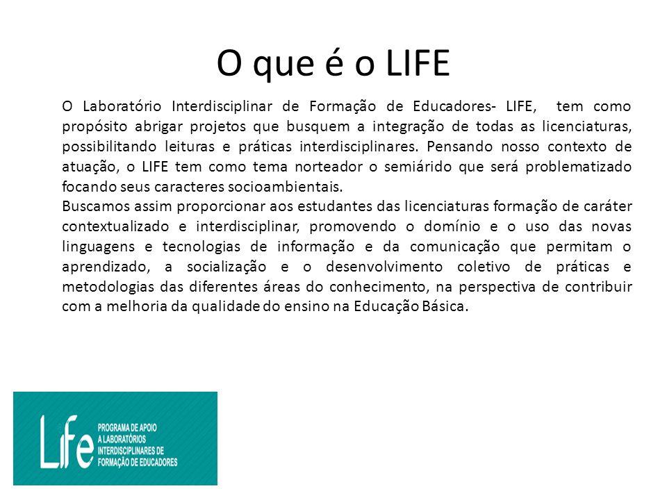 O que é o LIFE O Laboratório Interdisciplinar de Formação de Educadores- LIFE, tem como propósito abrigar projetos que busquem a integração de todas as licenciaturas, possibilitando leituras e práticas interdisciplinares.