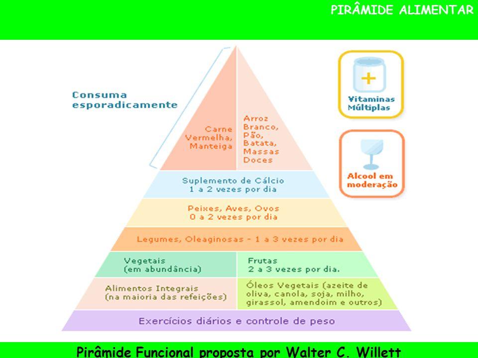 PIRÂMIDE ALIMENTAR Pirâmide Funcional proposta por Walter C. Willett