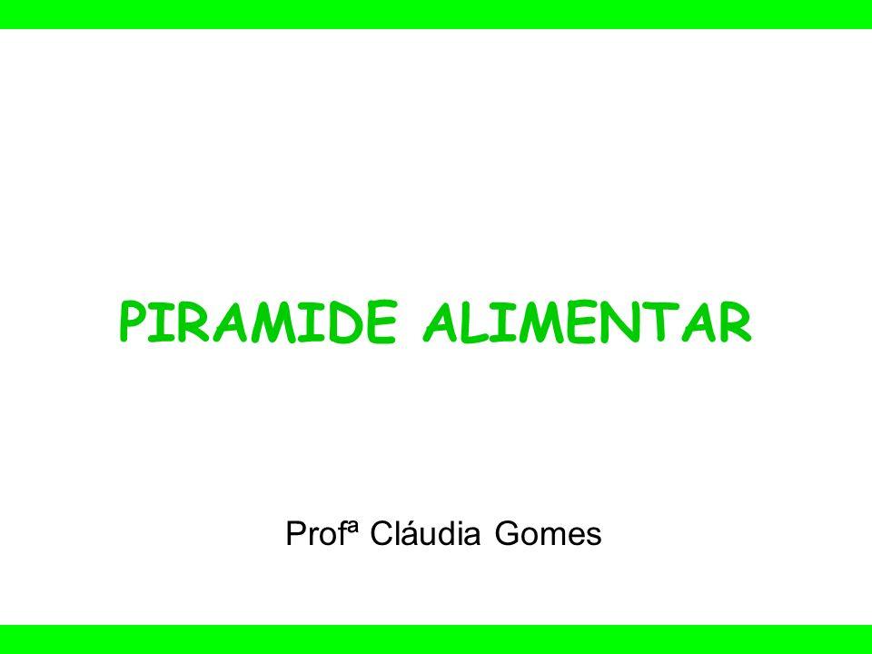 PIRAMIDE ALIMENTAR Profª Cláudia Gomes