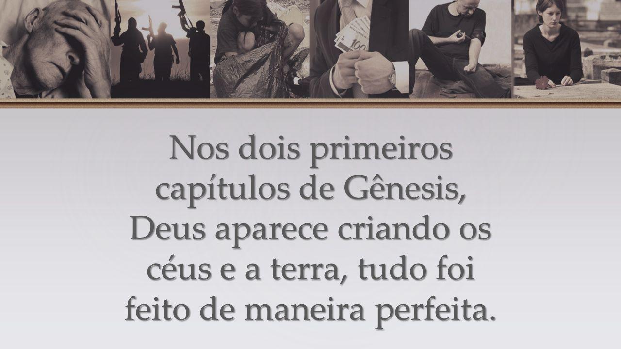 Nos dois primeiros capítulos de Gênesis, Deus aparece criando os céus e a terra, tudo foi feito de maneira perfeita.