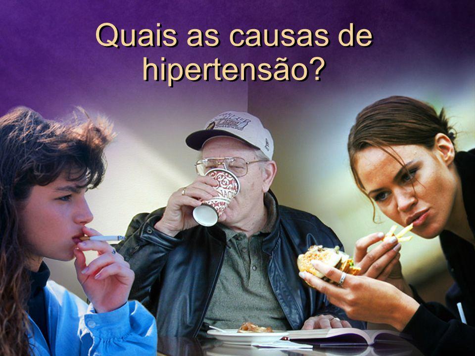 Quais as causas de hipertensão?