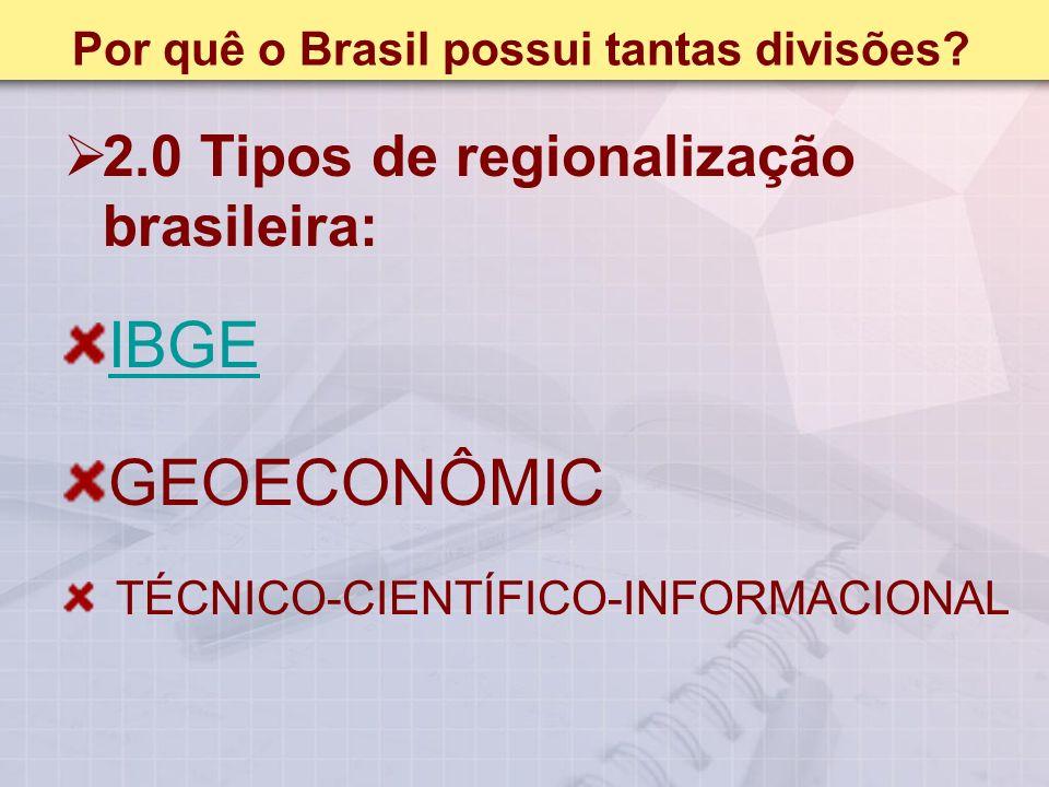 Por quê o Brasil possui tantas divisões.