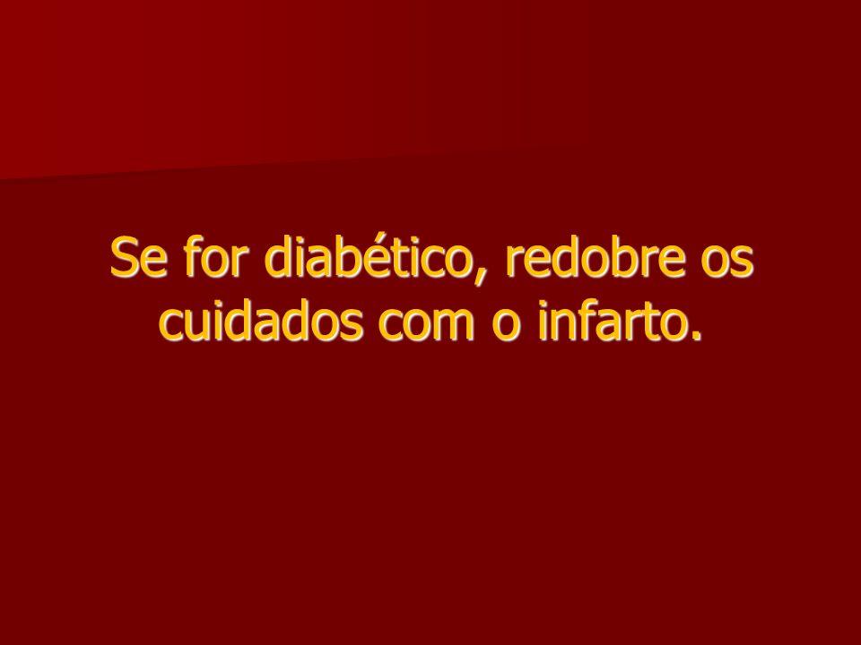 Se for diabético, redobre os cuidados com o infarto.