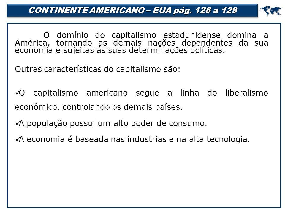CONTINENTE AMERICANO – EUA pág.