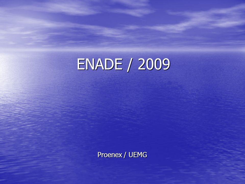 Proenex / UEMG ENADE / 2009