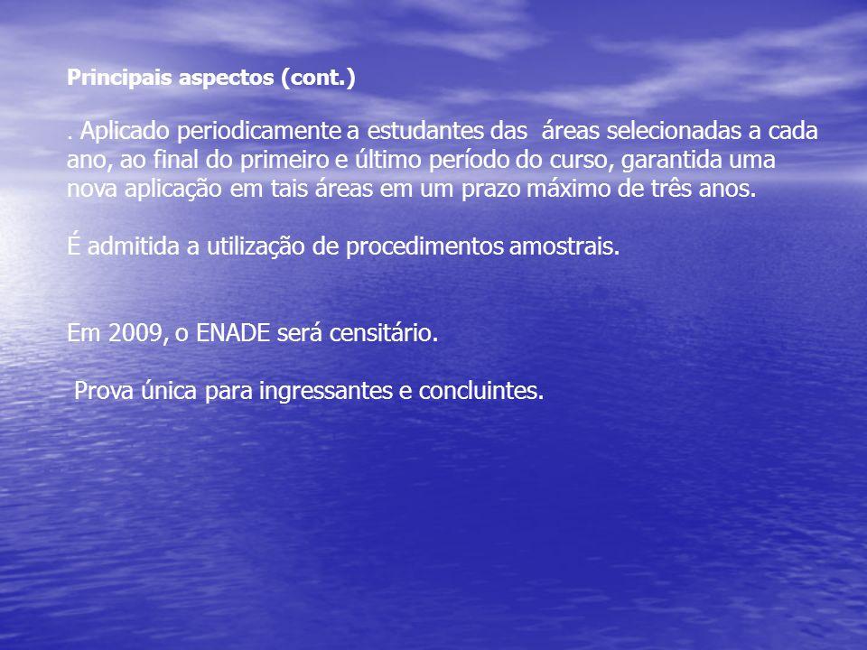 Principais aspectos (cont.).
