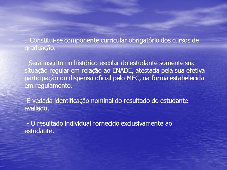 ENADE– Principais aspectos (cont.).