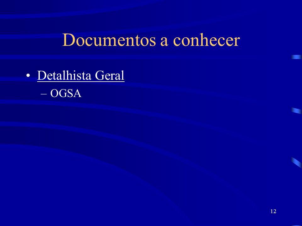 12 Documentos a conhecer Detalhista Geral –OGSA