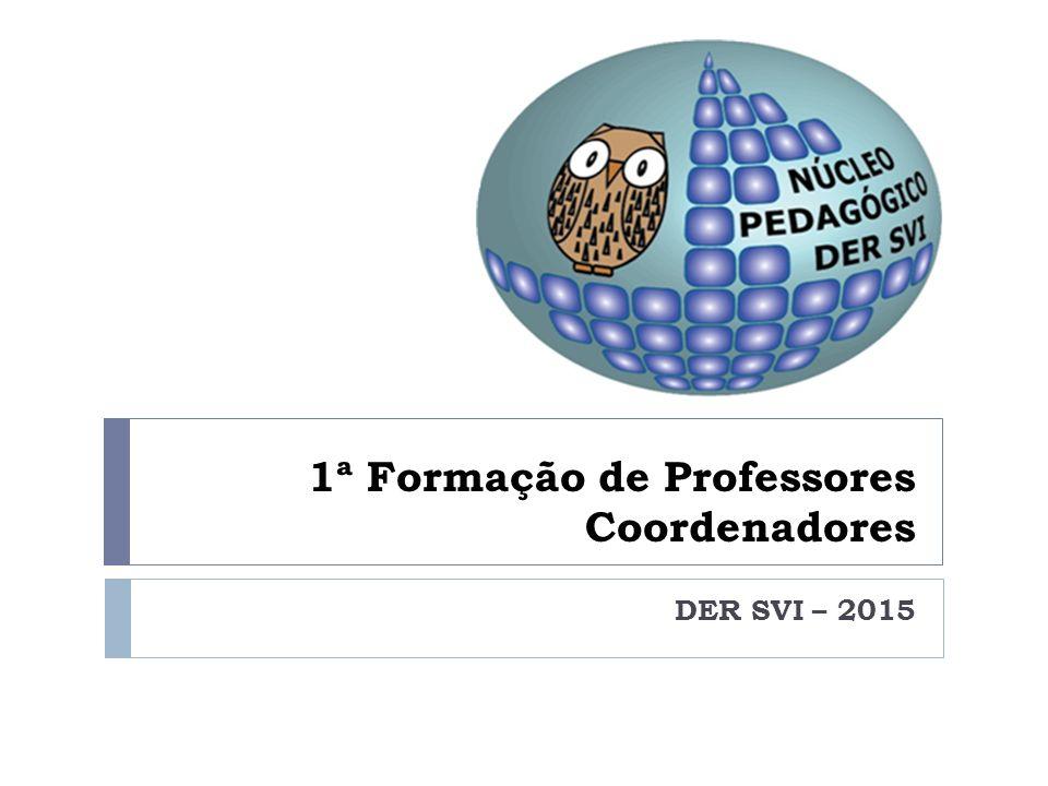 1ª Formação de Professores Coordenadores DER SVI – 2015