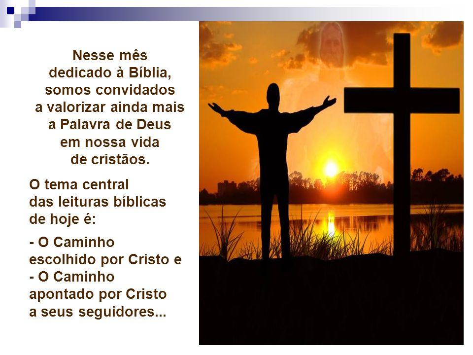 - Qual a nossa atitude diante da cruz.Tomamos a cruz com tranqüila e humilde aceitação.