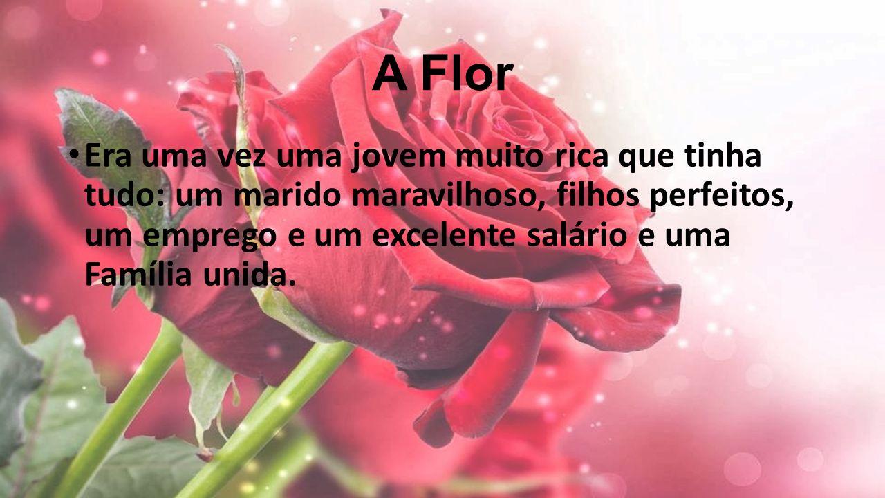 A Flor Era uma vez uma jovem muito rica que tinha tudo: um marido maravilhoso, filhos perfeitos, um emprego e um excelente salário e uma Família unida.