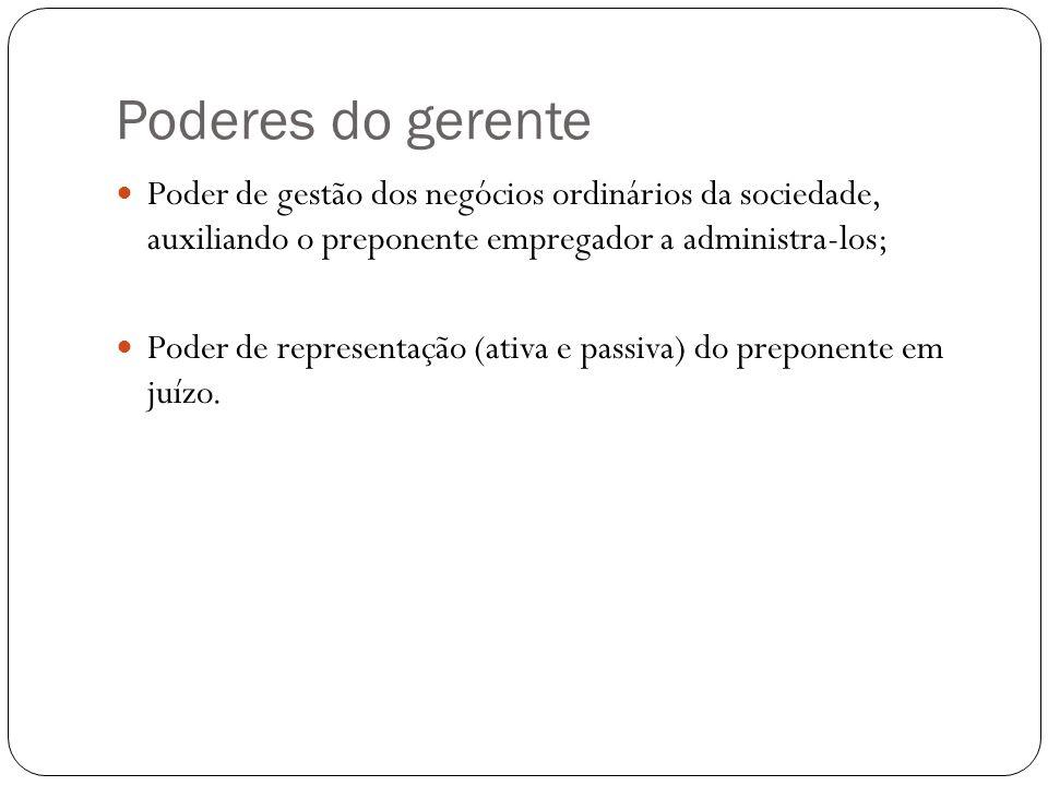 PLURALIDADE DE GERENTES Salvo estipulação em contrário, os poderes a eles conferidos serão solidários (CC, art.