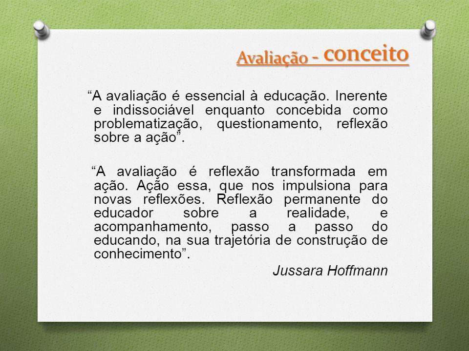 Avaliação - conceito A avaliação é essencial à educação.