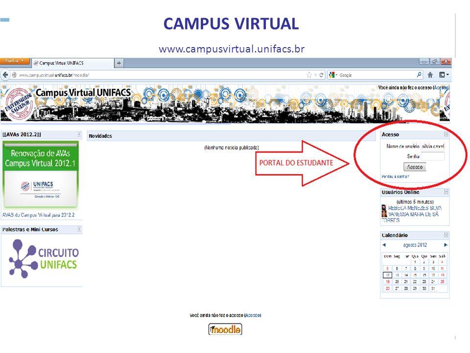 CAMPUS VIRTUAL www.campusvirtual.unifacs.br