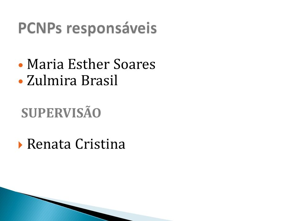 Maria Esther Soares Zulmira Brasil SUPERVISÃO  Renata Cristina