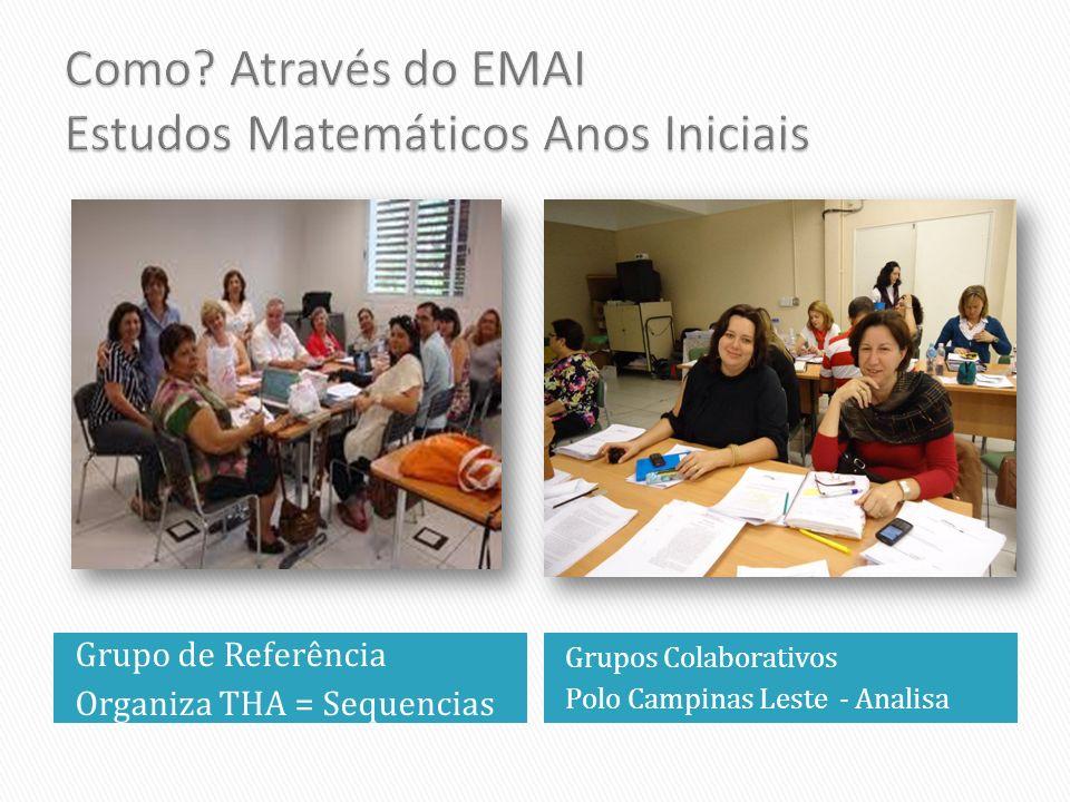 Grupo de Referência Organiza THA = Sequencias Grupos Colaborativos Polo Campinas Leste - Analisa