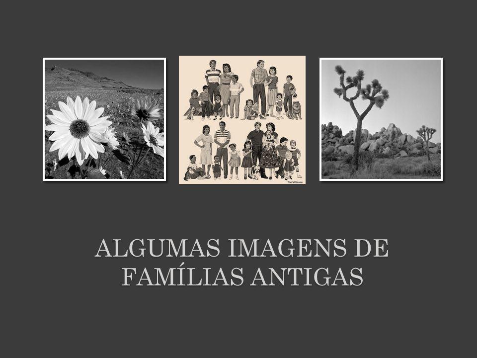 Famílias Antigas :  Muito numerosas.  Os filhos tratam os pais por