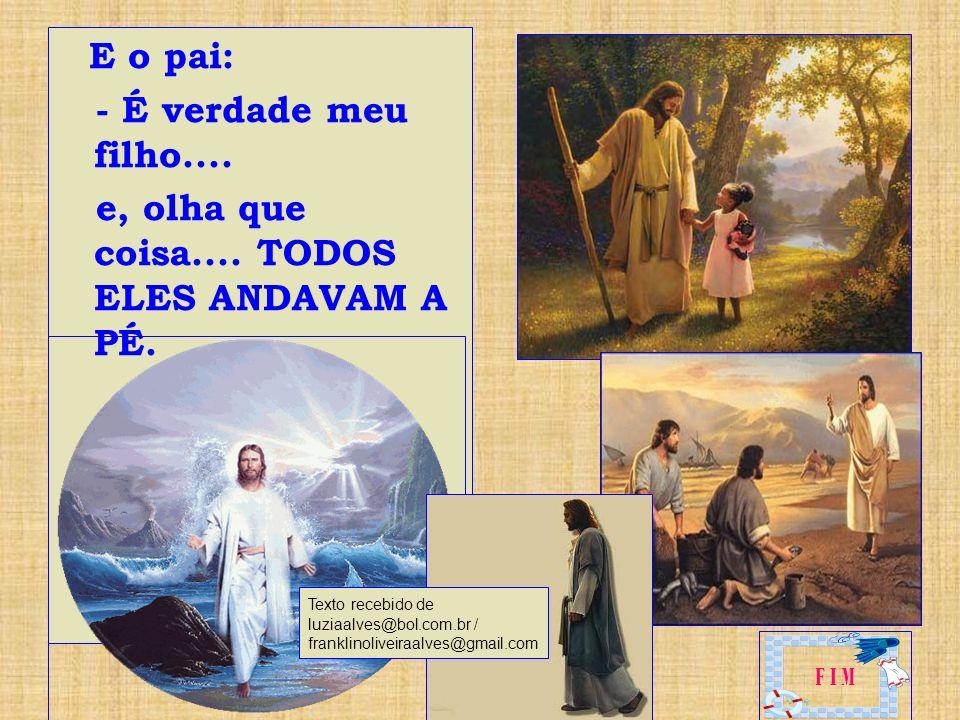 - Papai, lendo a Bíblia, eu fiquei intrigado - responde o filho – Sansão usava cabelos longos, Noé também.