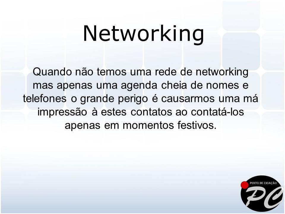 Quando não temos uma rede de networking mas apenas uma agenda cheia de nomes e telefones o grande perigo é causarmos uma má impressão à estes contatos