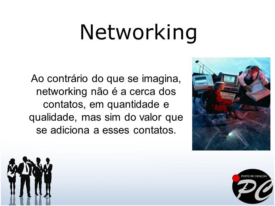 Ao contrário do que se imagina, networking não é a cerca dos contatos, em quantidade e qualidade, mas sim do valor que se adiciona a esses contatos. N