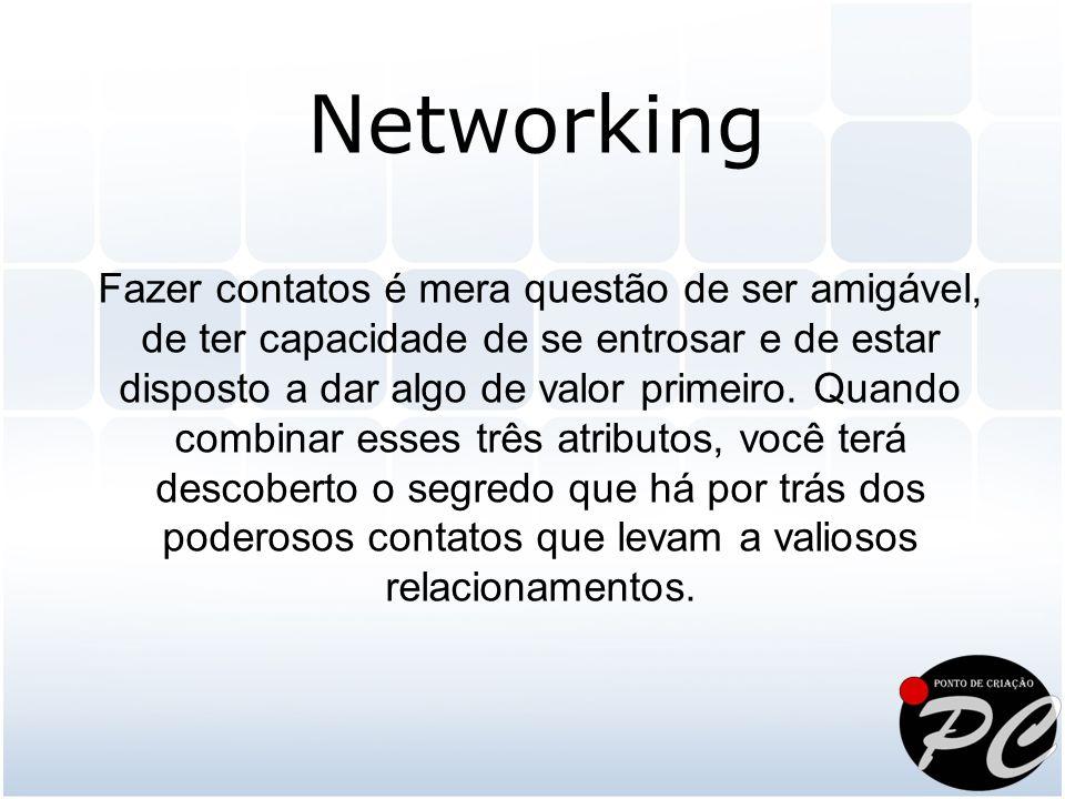 É fundamental entender que a oportunidade do networking ocorre a cada contato, e portanto, sempre em mão-dupla.