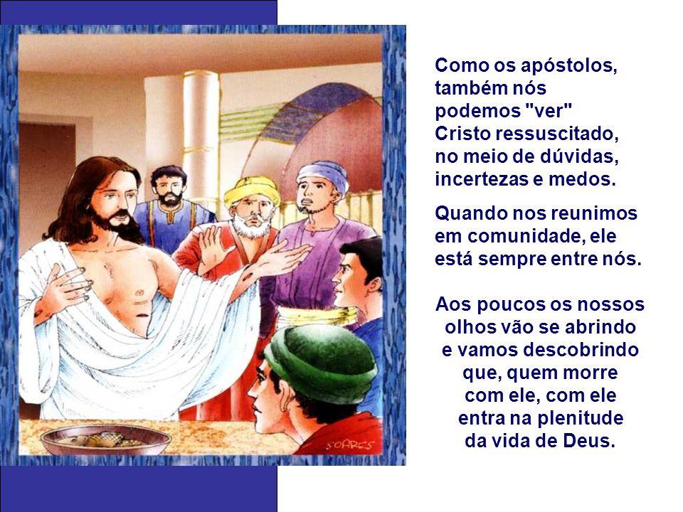 + No Evangelho, a Ressurreição de Jesus aparece como um FATO REAL, mas assim mesmo os apóstolos não conseguiam acreditar facilmente.
