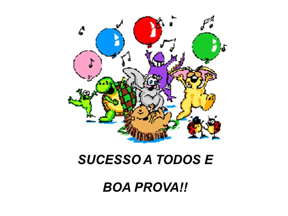 SUCESSO A TODOS E BOA PROVA!!