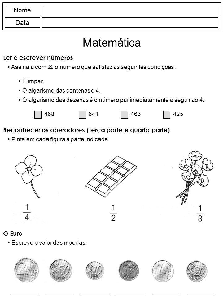 Ler e escrever números Assinala com  o número que satisfaz as seguintes condições : É impar.