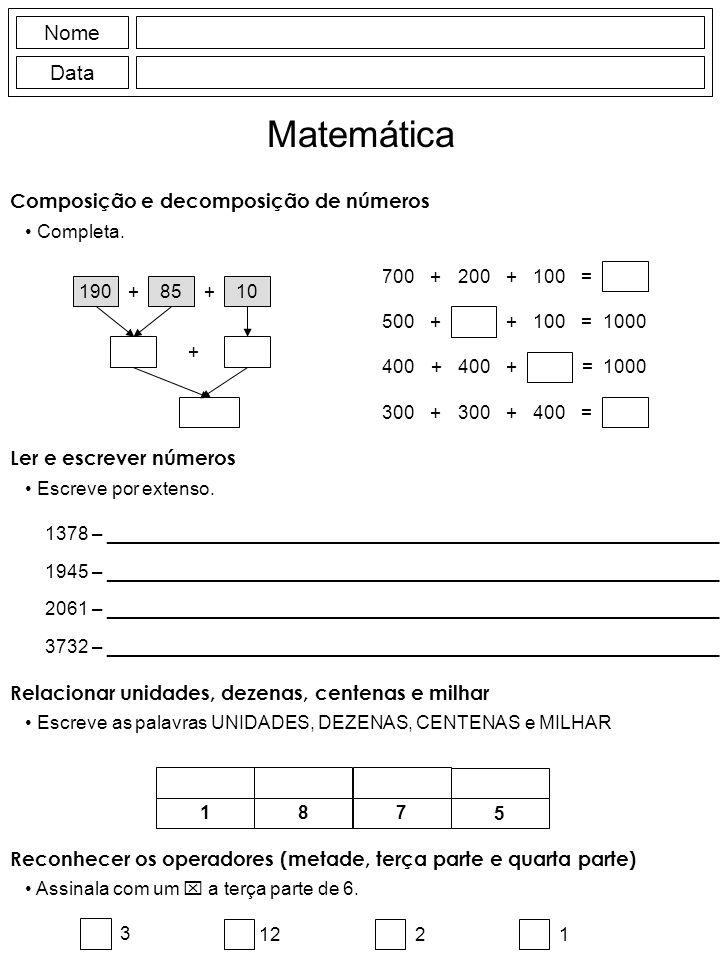 Composição e decomposição de números Completa.