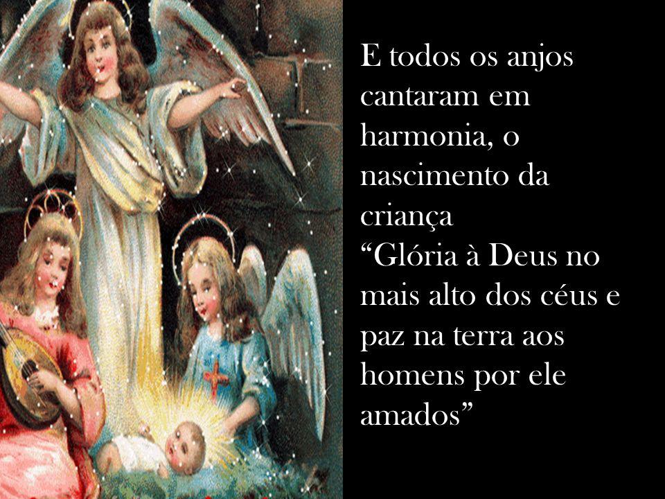 Foi em Belém o grande momento do nascimento, E cercado por animais num estábulo que Maria deu à luz ao salvador Jesus!.