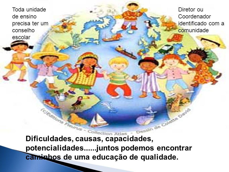 Toda unidade de ensino precisa ter um conselho escolar Diretor ou Coordenador identificado com a comunidade.