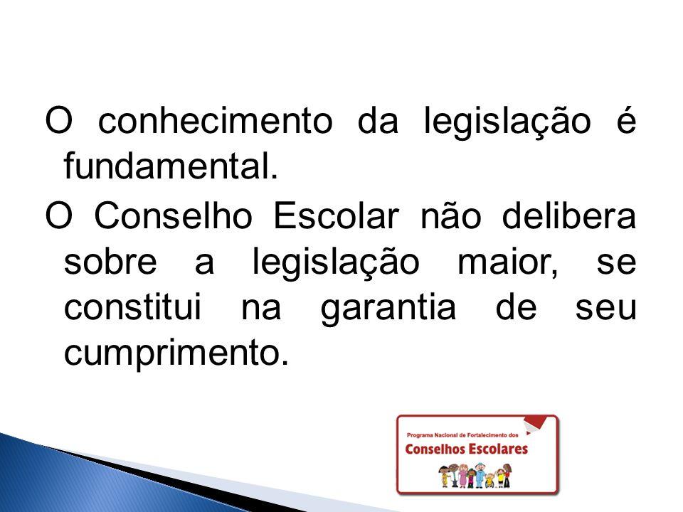 O conhecimento da legislação é fundamental.