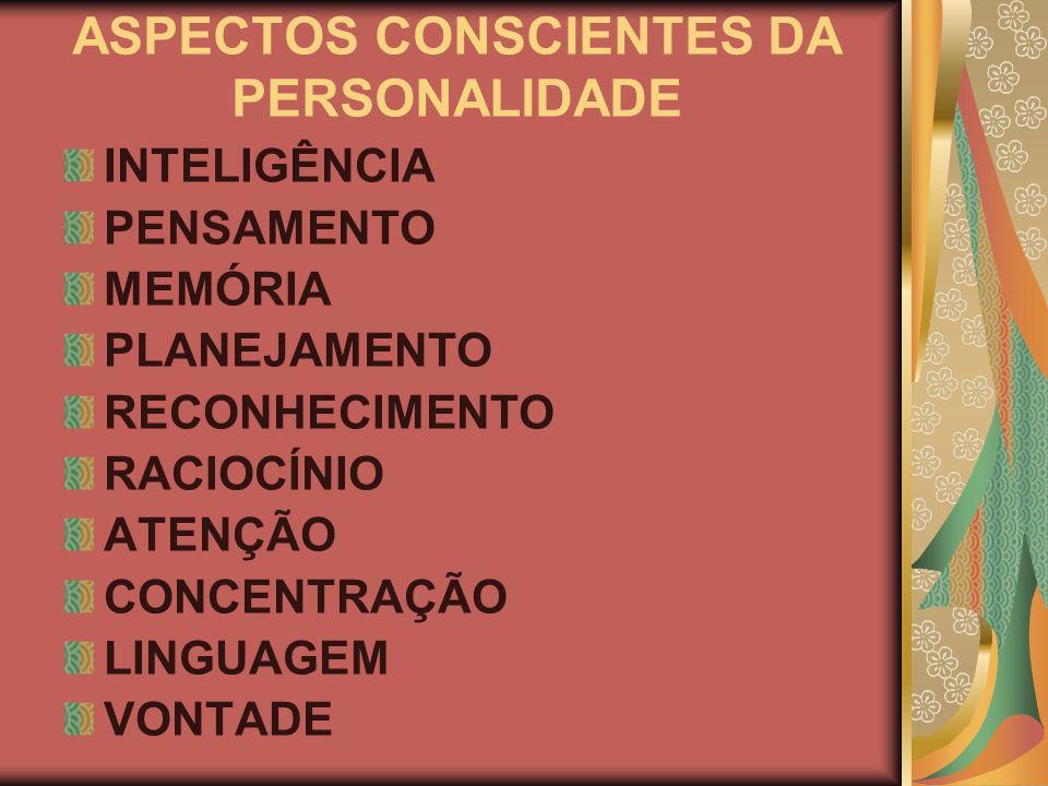 ASPECTOS INCONSCIENTES DA PERSONALIDADE SENTIMENTOS EMOÇÕES CRIATIVIDADE INTUIÇÃO