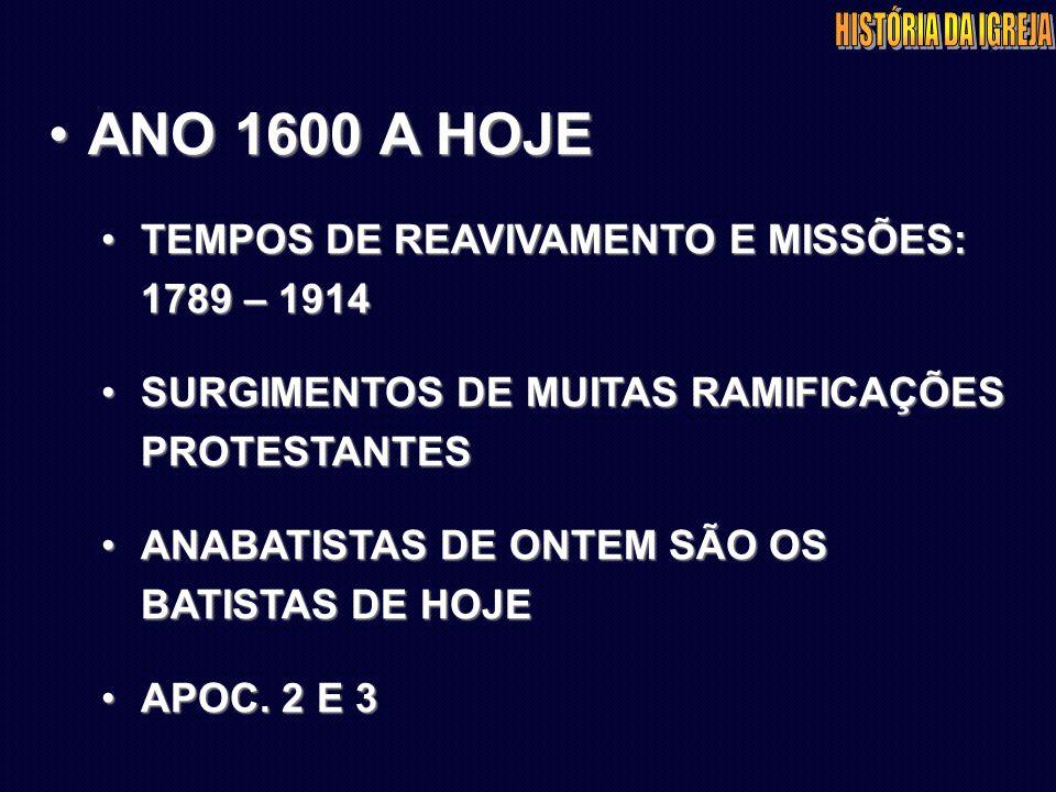 Os Batistas no Brasil Inserção 1871-1879 Estabelecimento 1879-1889 Expansão 1889-....