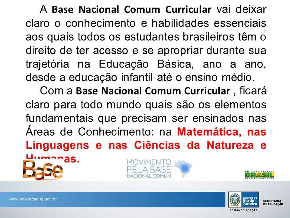 A Base Nacional Comum Curricular vai deixar claro o conhecimento e habilidades essenciais aos quais todos os estudantes brasileiros têm o direito de t