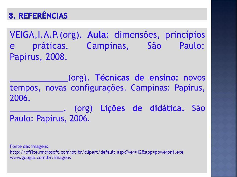 VEIGA,I.A.P.(org).Aula: dimensões, princípios e práticas.