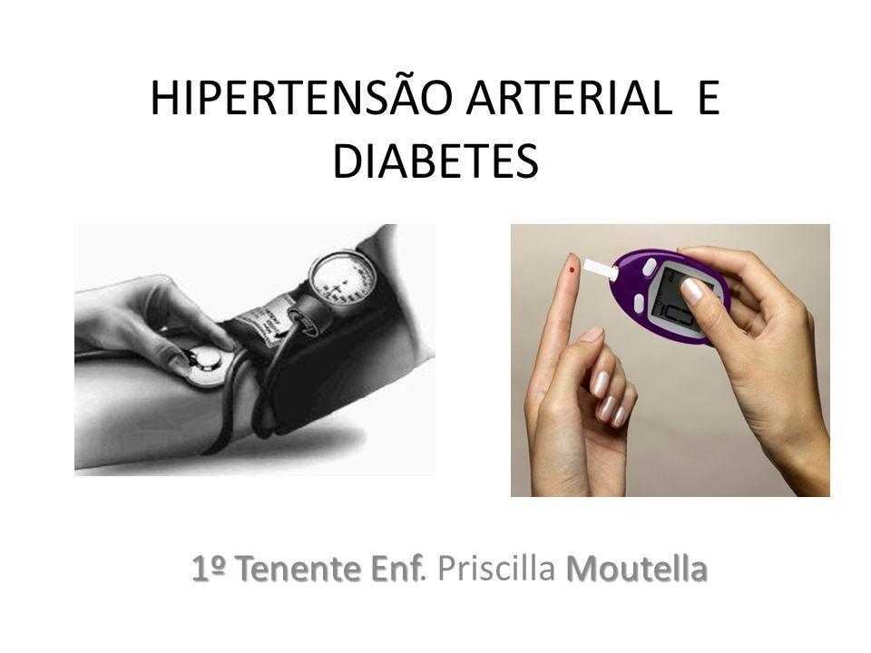 HIPERTENSÃO ARTERIAL E DIABETES 1º Tenente EnfMoutella 1º Tenente Enf. Priscilla Moutella