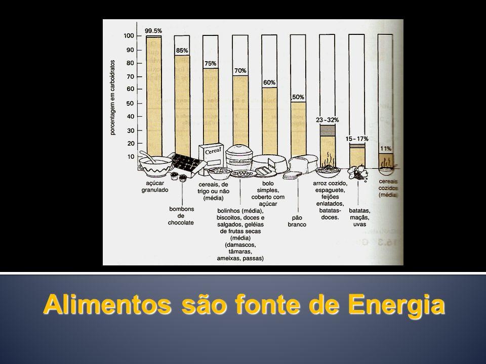 Alimentos são fonte de Energia