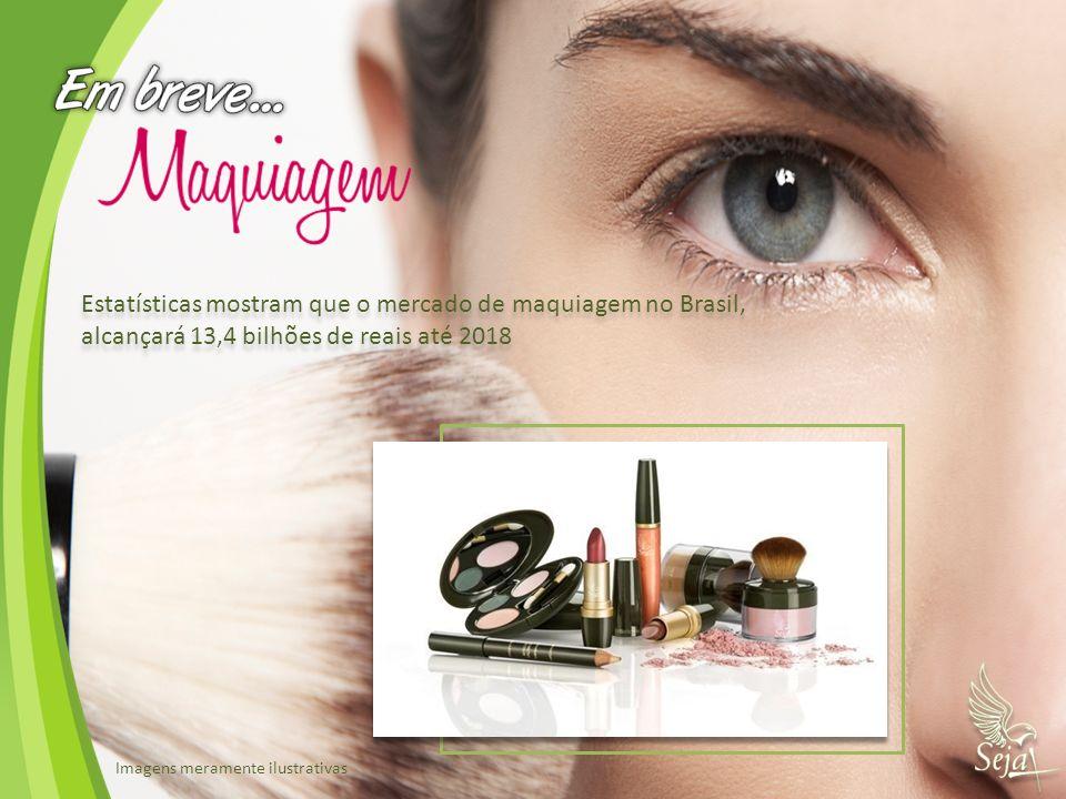 Estatísticas mostram que o mercado de maquiagem no Brasil, alcançará 13,4 bilhões de reais até 2018 Estatísticas mostram que o mercado de maquiagem no