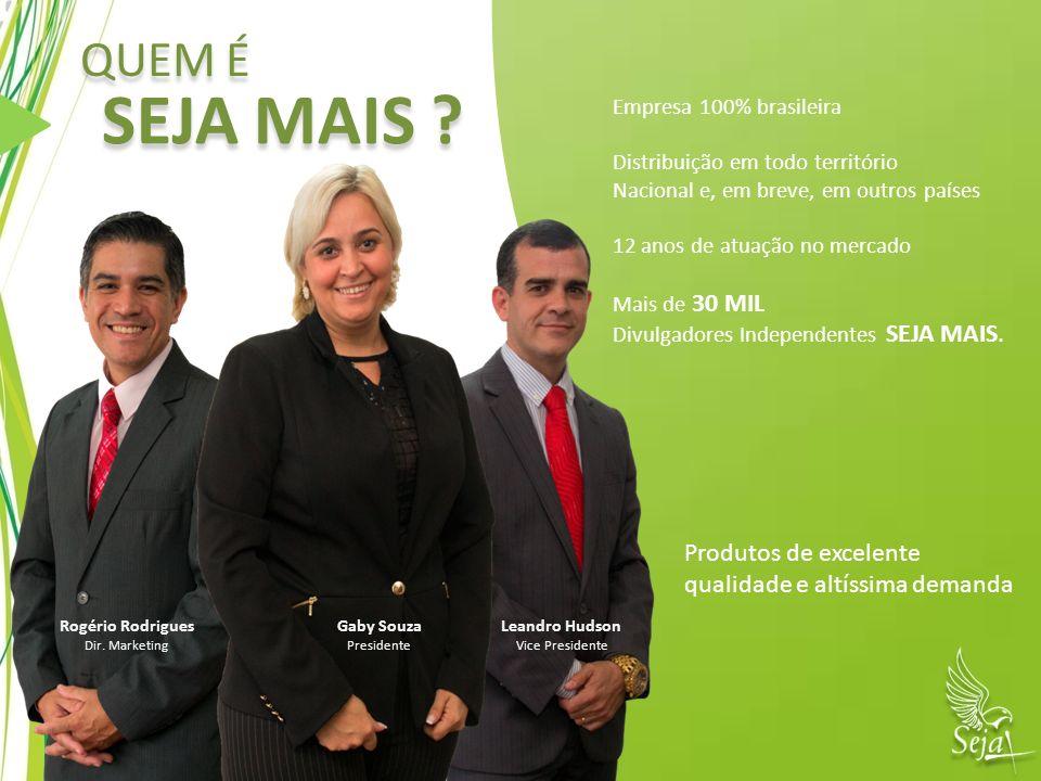 Empresa 100% brasileira Distribuição em todo território Nacional e, em breve, em outros países 12 anos de atuação no mercado Mais de 30 MIL Divulgador