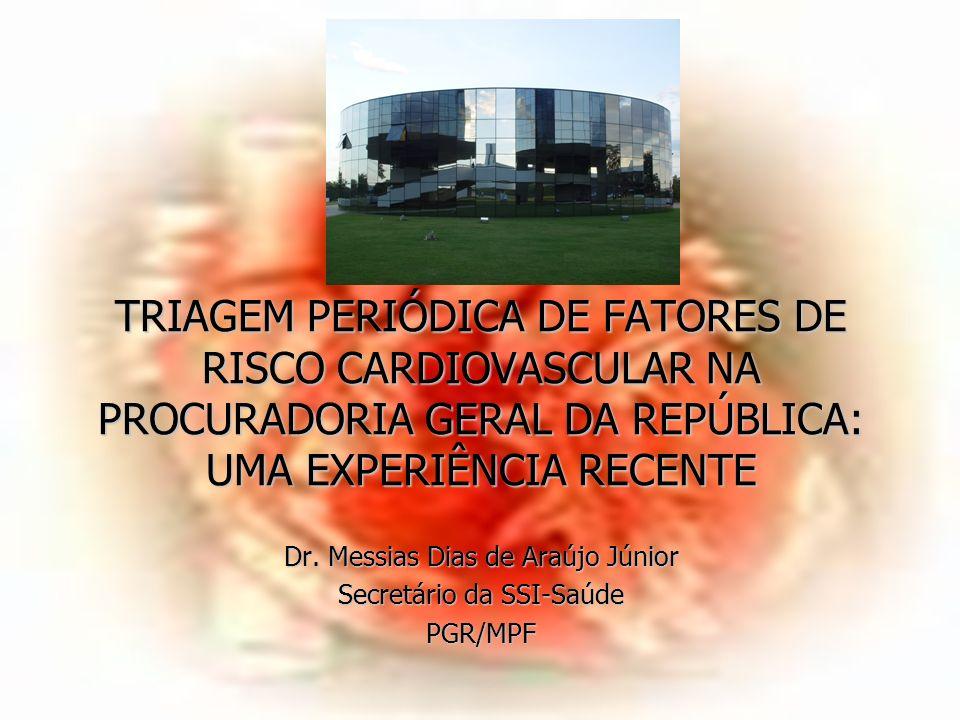 TRIAGEM PERIÓDICA DE FATORES DE RISCO CARDIOVASCULAR NA PROCURADORIA GERAL DA REPÚBLICA: UMA EXPERIÊNCIA RECENTE Dr.