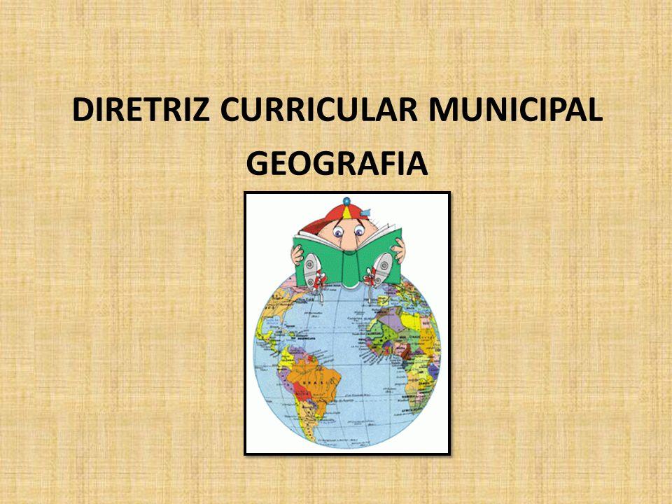DIRETRIZ CURRICULAR MUNICIPAL GEOGRAFIA